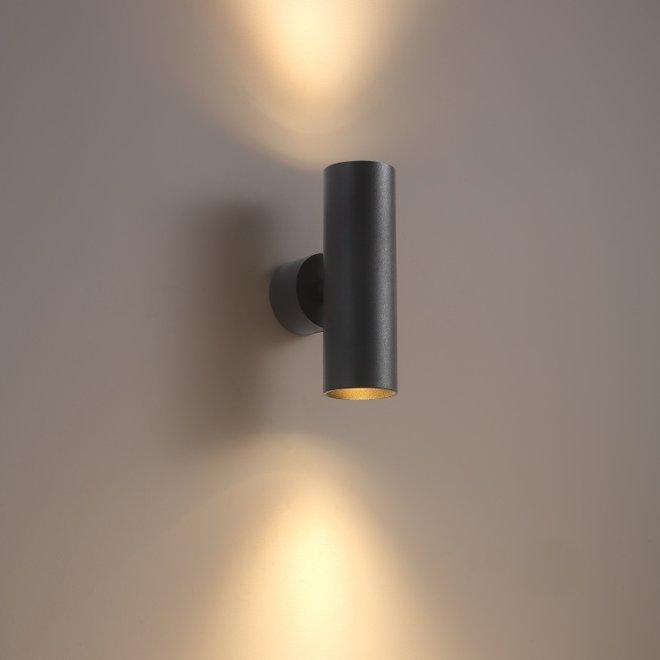 Wall spot TUUB up-down - black