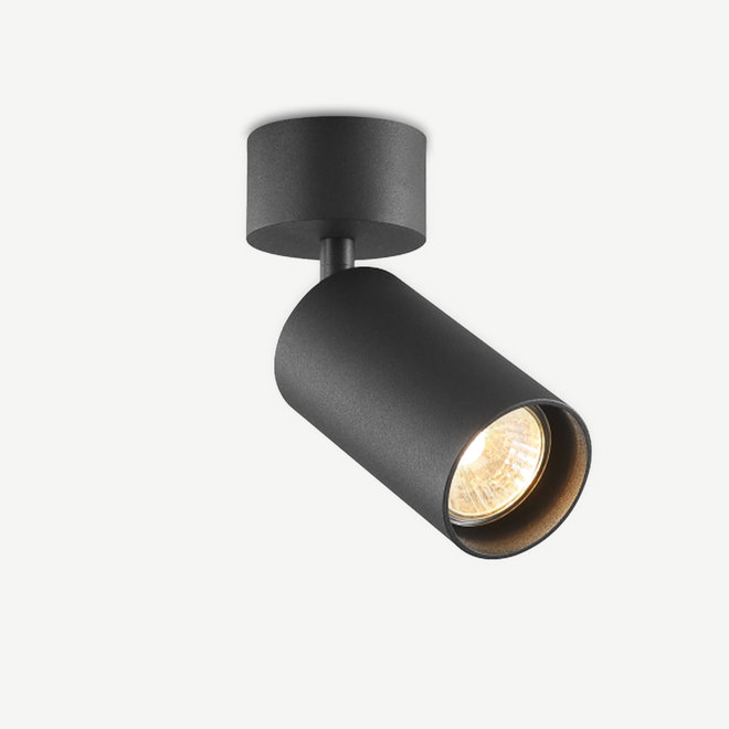 Surface ceiling spot TUUB with GU10 fitting - black