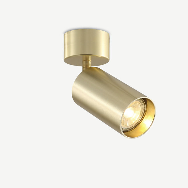 Surface ceiling spot TUUB with GU10 fitting - gold
