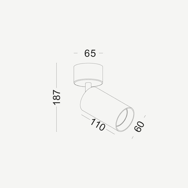 Opbouw plafond spot TUUB met GU10 fitting - wit