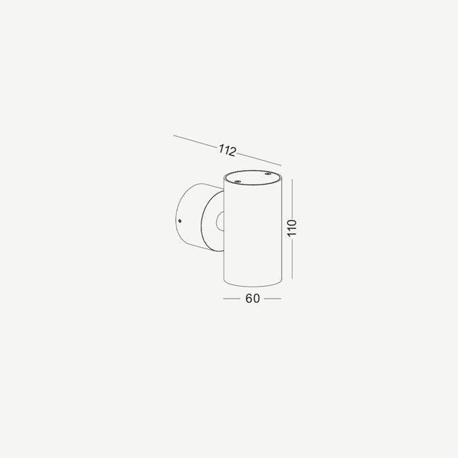 Opbouw wand spot TUUB met GU10 fitting - wit