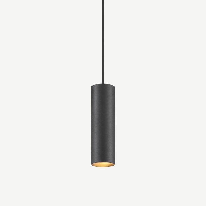 Hanglamp TUUB 200 mm met GU10 fitting - zwart