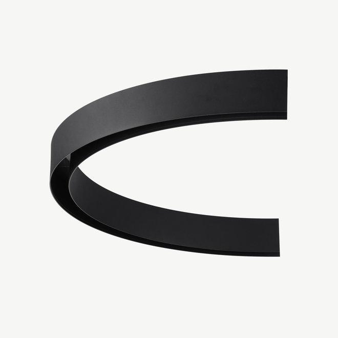 CLIXX magnetische track onderdelen - opbouw/pendel 1/2 cirkel verbinding - zwart
