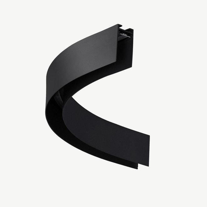 CLIXX magnetische track onderdelen - opbouw/pendel 1/4 cirkel verbinding - zwart