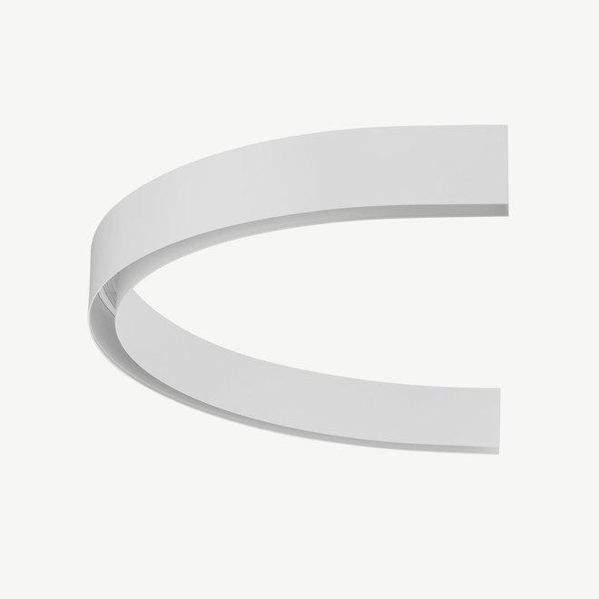 CLIXX magnetische track onderdelen - opbouw/pendel 1/2 cirkel verbinding - wit