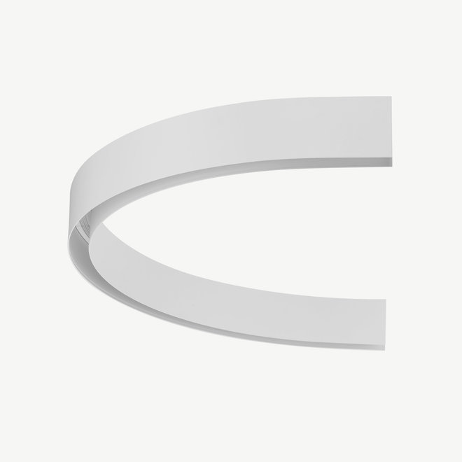 CLIXX magnetic track light system - surface/pendant 1/2 circle connection - white