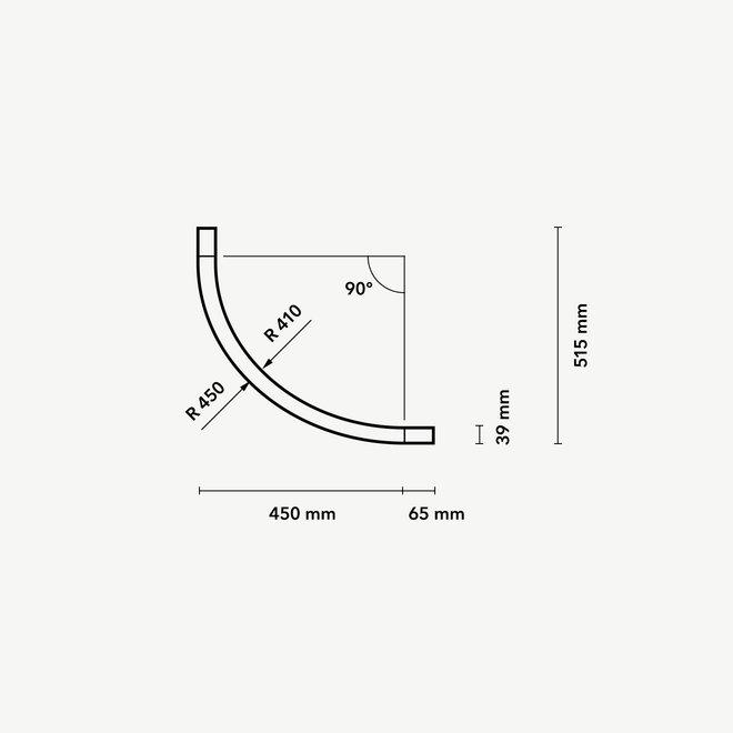 CLIXX magnetisch rail verlichtingssysteem - opbouw/pendel 1/4 cirkel verbinding - wit