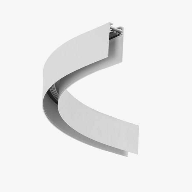 CLIXX magnetische track onderdelen - opbouw/pendel 1/4 cirkel verbinding - wit