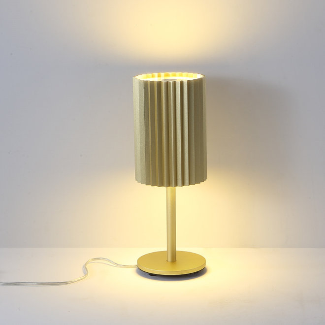 Table lamp Leah with texture - gold
