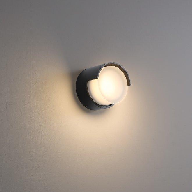 Binnen/buiten wandlamp ROOF small - zwart