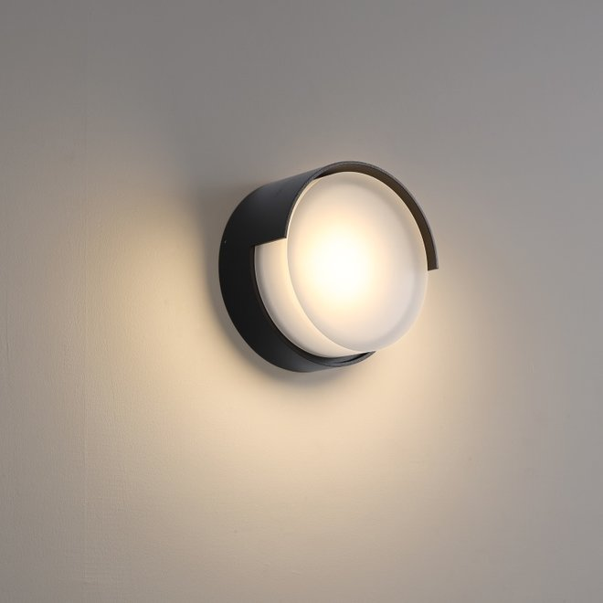 Binnen/buiten wandlamp ROOF - zwart