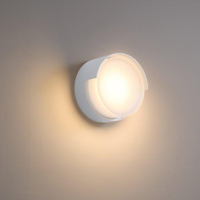 Binnen/buiten wandlamp ROOF - wit