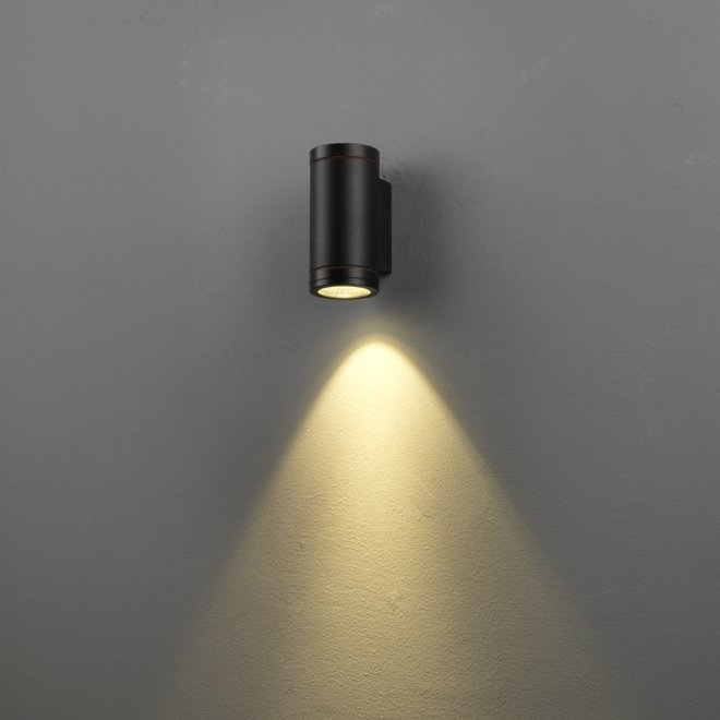 Binnen/buiten wandlamp RONDO - zwart
