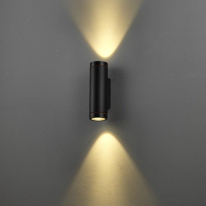 Binnen/buiten wandlamp RONDO up-down - zwart