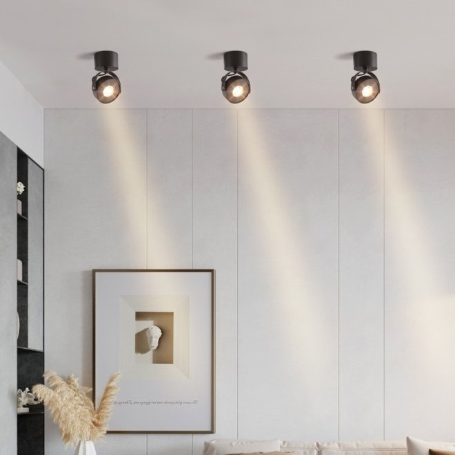 Wall / Ceiling spot BRANDON LED Ø 105 mm square - white