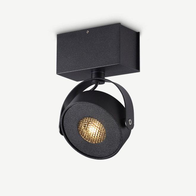 Wall / Ceiling spot BRANDON LED Ø 105 mm square - black