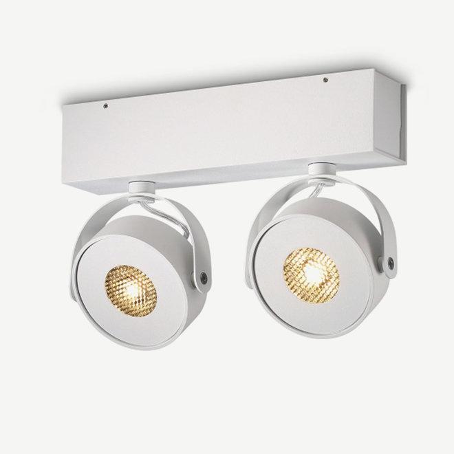 Wall / Ceiling spot BRANDON LED Ø 105 mm double - white