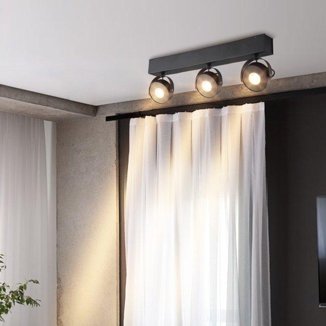Wand- / Plafondspot BRANDON LED Ø 105 mm dubbel - wit