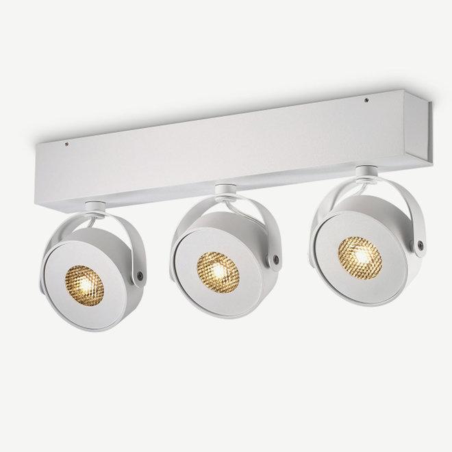 Wall / Ceiling spot BRANDON LED Ø 105 mm 3 double - white