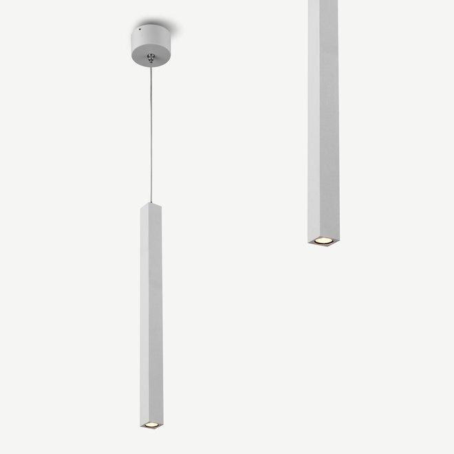 Moderne LED hanglamp SLIM vierkant 350 mm - wit