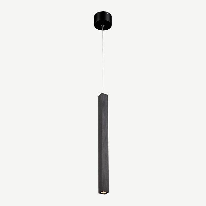 Moderne LED hanglamp SLIM vierkant 350 mm - zwart