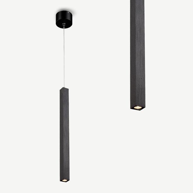 Modern LED pendant lamp SLIM square 350 mm - black