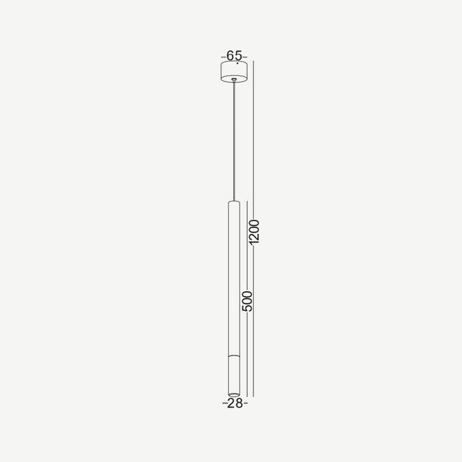 Design LED pendant lamp STIXX - black
