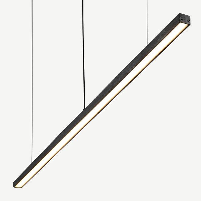 Moderne LED hanglamp LINE Slim 1170 mm - zwart