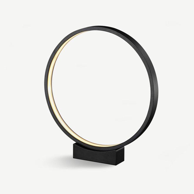 LED tafel- / vloerlamp HALO enkele ring ø400 mm - zwart