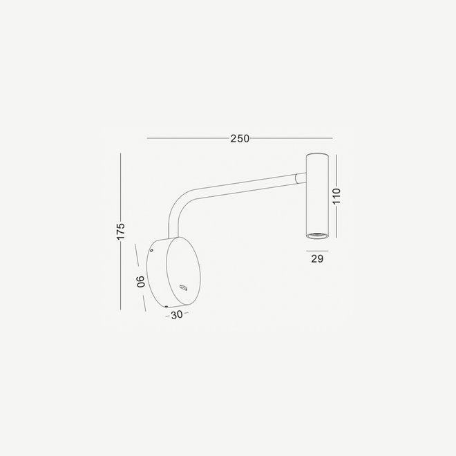 LED ARM leeslamp zwenkbaar - wit