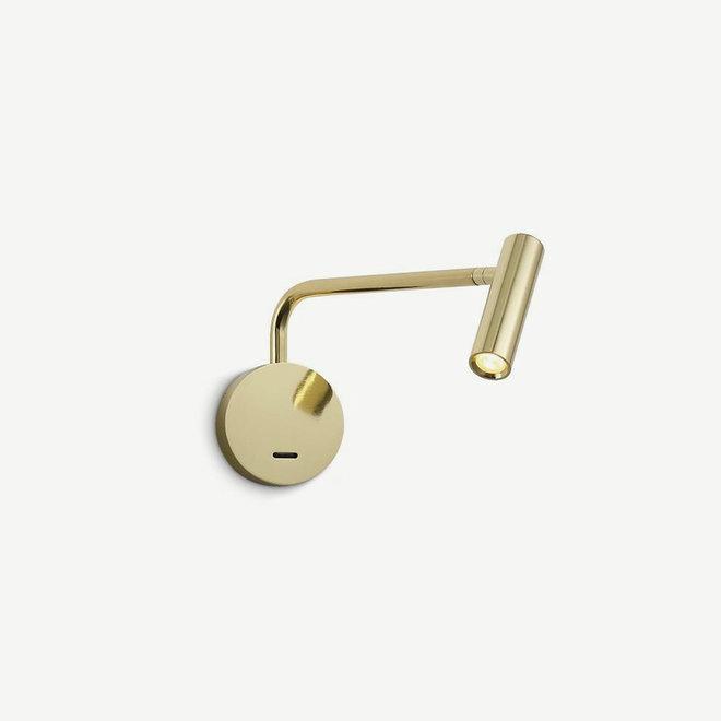LED ARM leeslamp zwenkbaar - goud