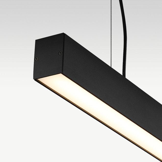 Linear LED pendant lamp LINE 1200 mm - black