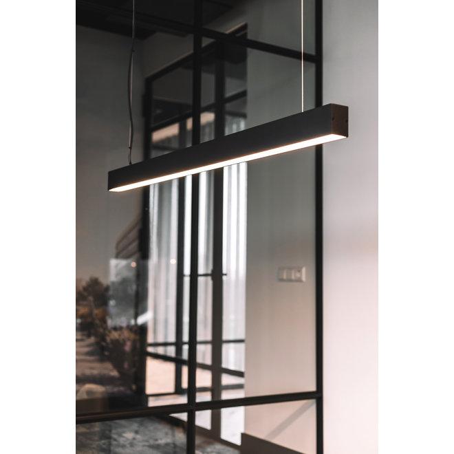 Lineaire LED hanglamp LINE 1200 mm - zwart