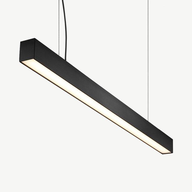 Moderne LED hanglamp LINE 1200 mm - zwart