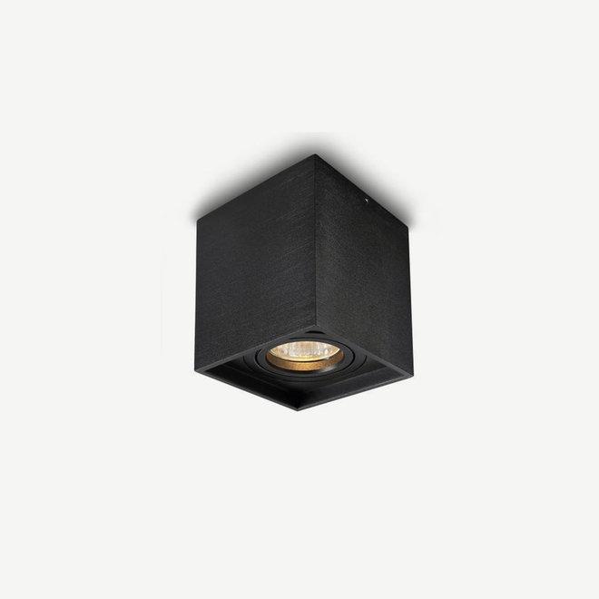 Design plafondspot BOXX zwart enkel GU10
