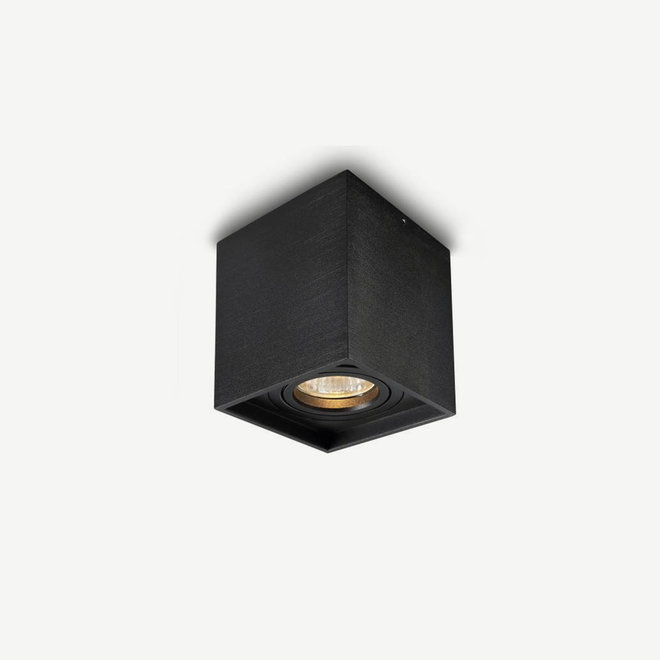 Design ceiling spot BOXX black single GU10