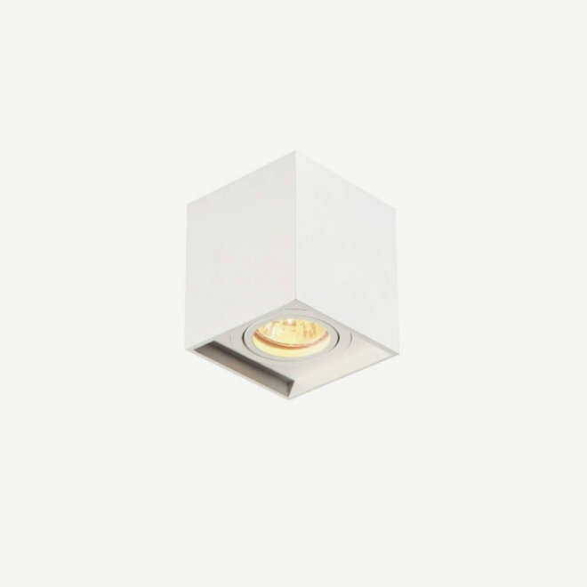 Design plafondspot BOXX wit enkel GU10