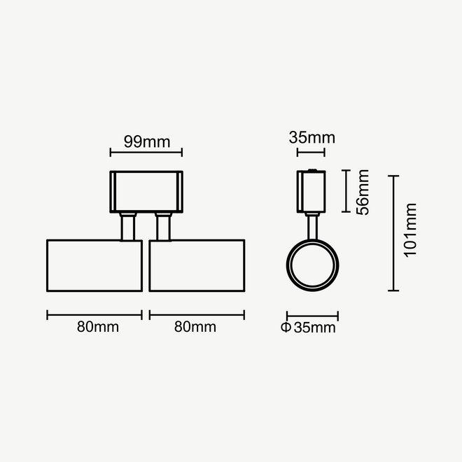 CLIXX CURVE magnetisch rail verlichtingssysteem - SPOT35D LED module - zwart