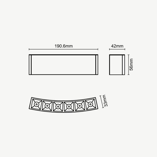 CLIXX CURVE magnetic track light system - DOT06 LED module - black