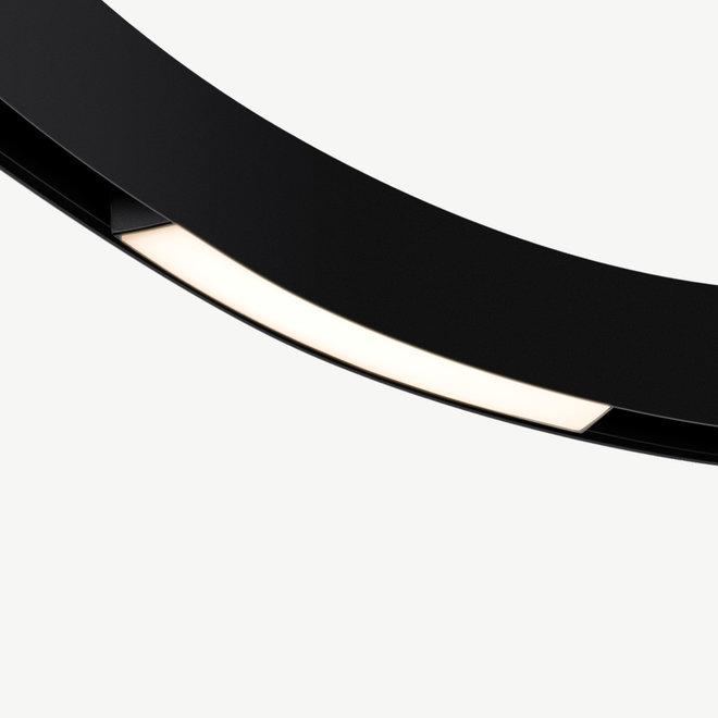 CLIXX CURVE magnetisch rail verlichtingssysteem - LINE16 LED module  - zwart