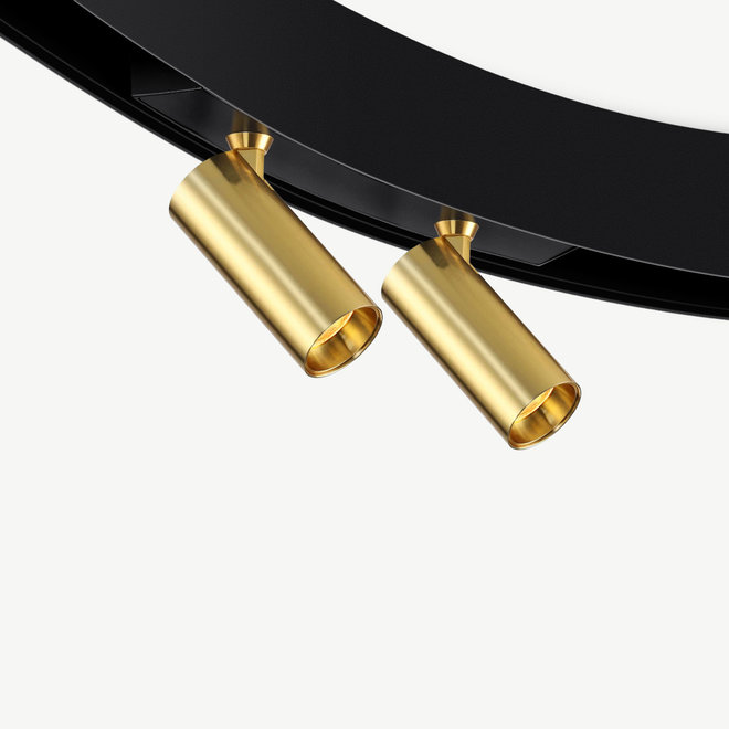 CLIXX CURVE magnetisch rail verlichtingssysteem - SPOT35D LED module - goud