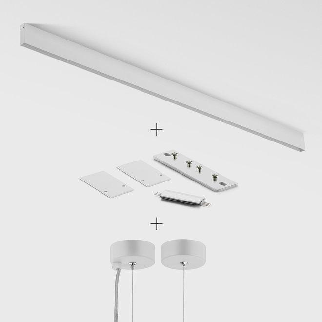 CLIXX magnetisch rail verlichtingssysteem - pendel profiel - wit