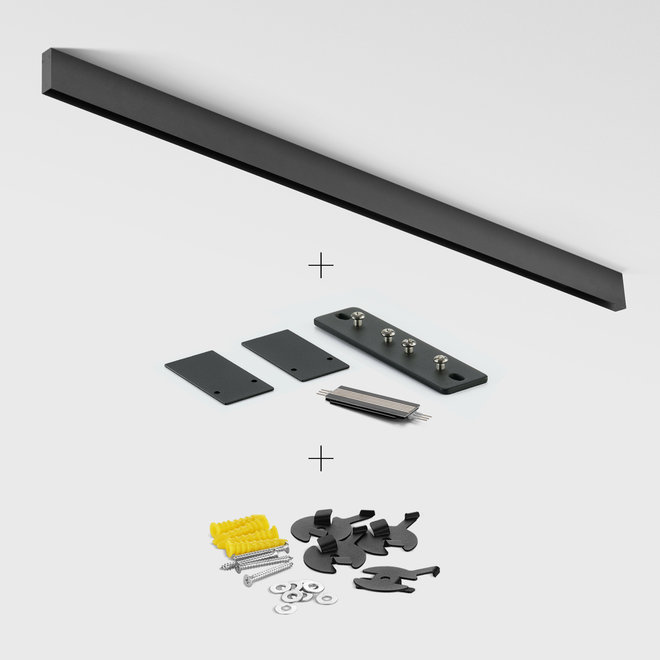 CLIXX SLIM magnetic track light system - surface profile - black