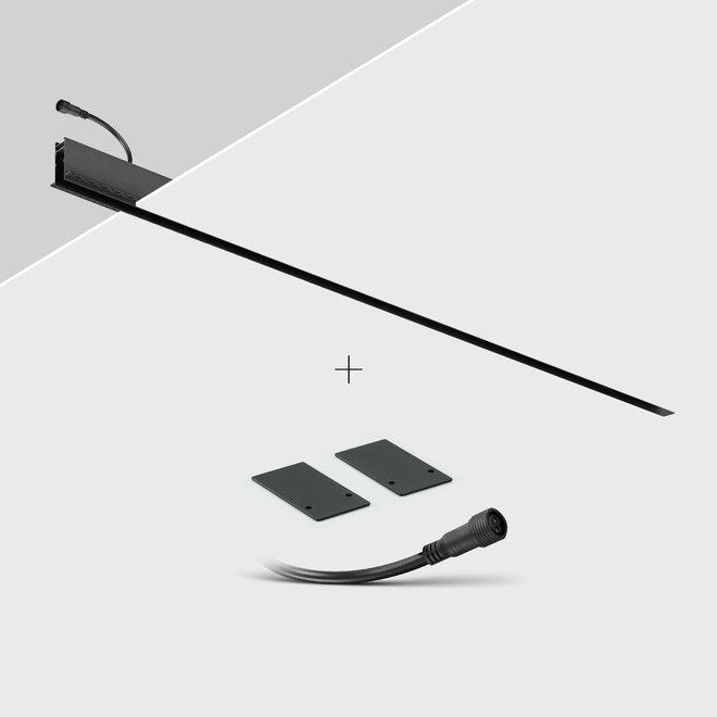 CLIXX SLIM magnetic track light system - recessed (rimless) profile - black