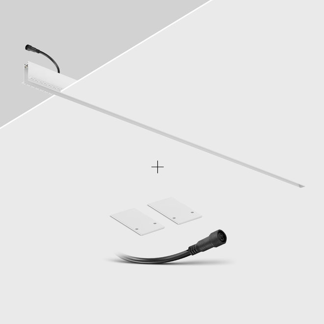 CLIXX SLIM magnetic track light system - recessed (rimless) profile - white