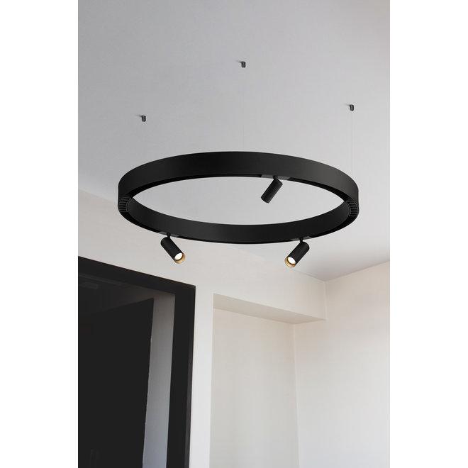 CLIXX CURVE magnetic track light system - SPOT50 LED module - black