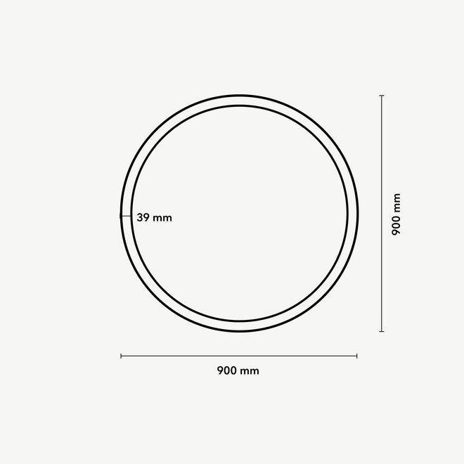 CLIXX CURVE magnetic track light system - CIRCLE surface profile - white