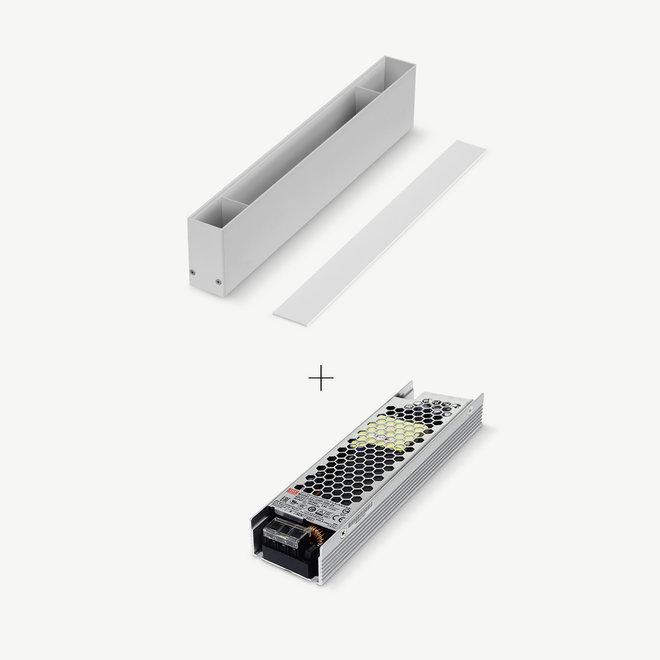 CLIXX magnetisch rail verlichtingssysteem - accessoires opbouw/hangend driverbox - wit