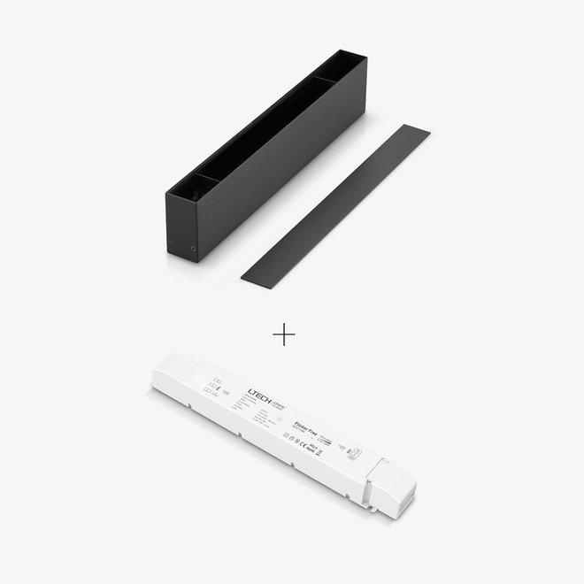 CLIXX magnetisch rail verlichtingssysteem - accessoires opbouw/hangend driverbox - zwart