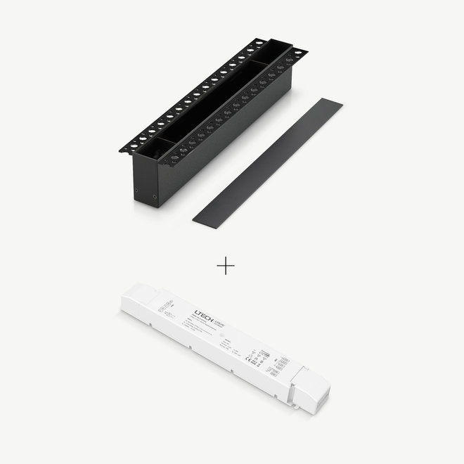 CLIXX magnetic track light system - accessories recessed driverbox - black